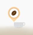 coffee checkin concept vector image