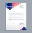 creative business letterhead vector image vector image