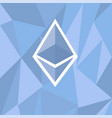 cryptocurrency ethereum concept vector image