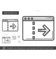 Data transfer line icon vector image vector image