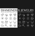 diamonds icon set vector image vector image