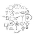 diet icons set outline style vector image vector image