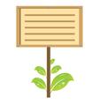 eco signboard vector image