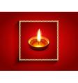 elegant diwali diya vector image vector image