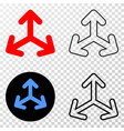expand arrows eps icon with contour version vector image vector image