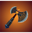 fantasy viking axe magic weapon game design vector image vector image
