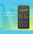 fitness app parameter monitor ui design concept vector image vector image