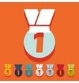 Flat design medal vector image vector image