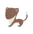 forest animal cute cartoon vector image vector image