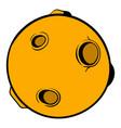 full moon icon cartoon vector image vector image