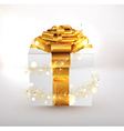 Gold Present Design vector image vector image