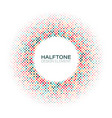 halftone design element with random colored dots vector image vector image