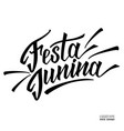hand drawn logotype for festa junina festival of vector image vector image
