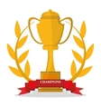 Isolated gold trophy cup design vector image vector image