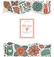 leaf doodle elements made of flowers vector image vector image