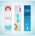 modern futuristic vertical banners vector image vector image