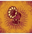 music background in retro style for the cover vector image vector image
