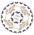 oak leaf and acorn design leaf wreath vector image