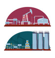 oil industry with refinery plant vector image vector image