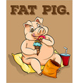 Old saying fat pig vector image vector image