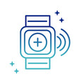 online health wearable technology activity vector image vector image