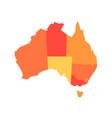 orange blank map of australia vector image vector image