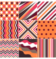 patterns with fabric texture vector image vector image
