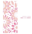 pink abstract flowers vertical frame seamless vector image vector image