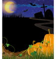 Pumpkins on a cemetery vector image vector image