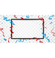 red and blue ribbon vector image vector image