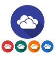 round icon of clouds cloudy weather flat style vector image vector image