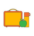 school lunch boxes vector image vector image