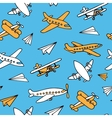 Seamless pattern of aircraft vector image vector image