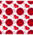 seamless red dark and light hearts vector image vector image