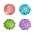 sensory ball set different colors and textures vector image