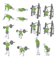Set of systematic bodybuilding exercises vector image vector image