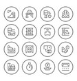 Set round line icons of parking
