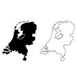 simple only sharp corners map netherlands vector image vector image