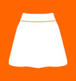 skirt white icon vector image vector image