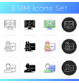 streaming services icons set vector image