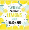 summer lemon time card frame with lemon on white vector image vector image