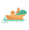 tanakh lot temple on bali indonesia vector image vector image