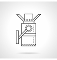 Turnstile flat line design icon vector image vector image
