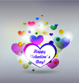 Valentins Day Card or invitation with hearts vector image vector image