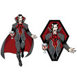 vampire count mascot vector image vector image