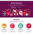 Web Design Be My Valentine vector image vector image