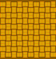 wicker seamless pattern yellow and orange vector image vector image