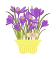with flower pot vector image vector image