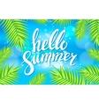 Hello Summer sea Party Flyer Design EPS 10 vector image