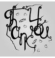 Inscription Thank you vector image